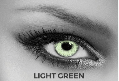 Green Contact Lenses Soleko - Queen's Twins Light Green 1 Month