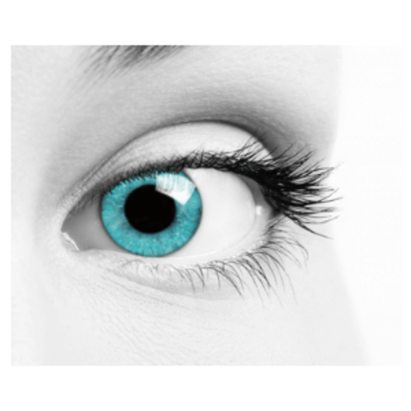 Blue Contact Lenses Soleko Queen's Oros Cold Mint - 1 Month