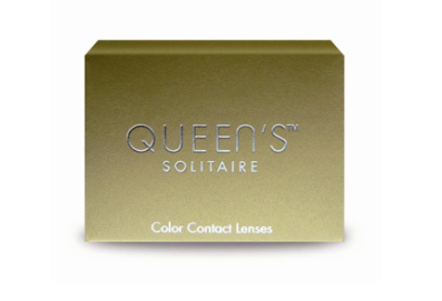 Amazing Blue Look Contact Lenses Soleko Queen's Solitaire