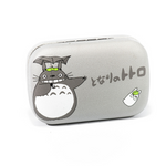 Gray and white kit contact lenses case holder bear Totoro Gray and White with UMBRELLA
