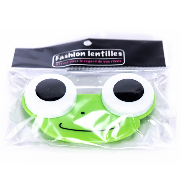 green frog case holder color lenses