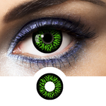 Green Contacts Vampire - Crazy Lenses of 1 Year Use
