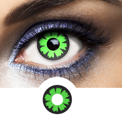 Green Contacts Cyber - Crazy Lenses of 1 Year Use