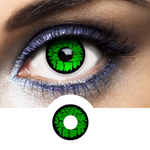 Green Contacts Goblin - Crazy Lenses of 1 Year Use