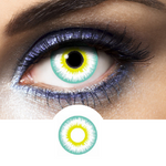 green and yellow contact lenses fantasy