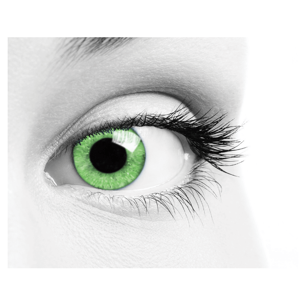 Green Contact Lenses Soleko Queen's Solitaire Jade - 3 Months Use