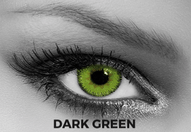 Green Contact Lenses Soleko - Queen's Trilogy Dark Green 1 Month