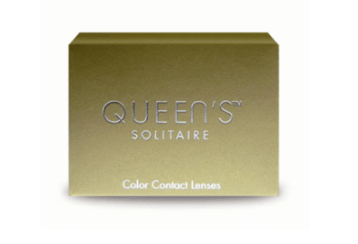 Green Contact Lenses Soleko Queen's Solitaire Light Green