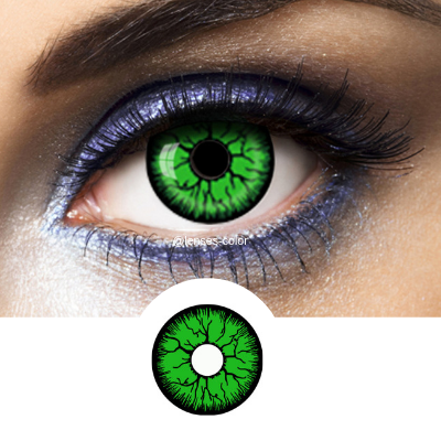 green crazy lenses greenshot halloween or cosplay