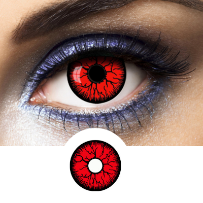red crazy lenses resident evil for halloween disguise and cosplay