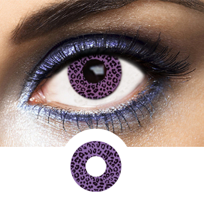 Violet Contacts Violet Leopard - Crazy Lenses of 1 Year Use