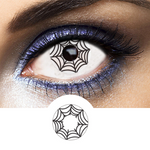 black crazy lenses spider for cosplay and makeup