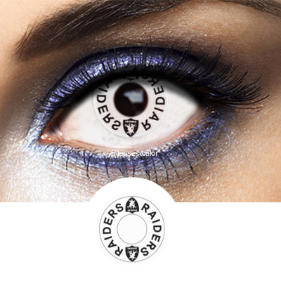 white contacts raiders for cosplay and makeup