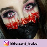 Red crzay lenses blood effect
