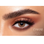 Brown Contact Lenses Dahab Gold Cat Eye - 6 Months Use