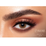 Great Look with Brown Contact Lenses Dahab Creamy 6 months