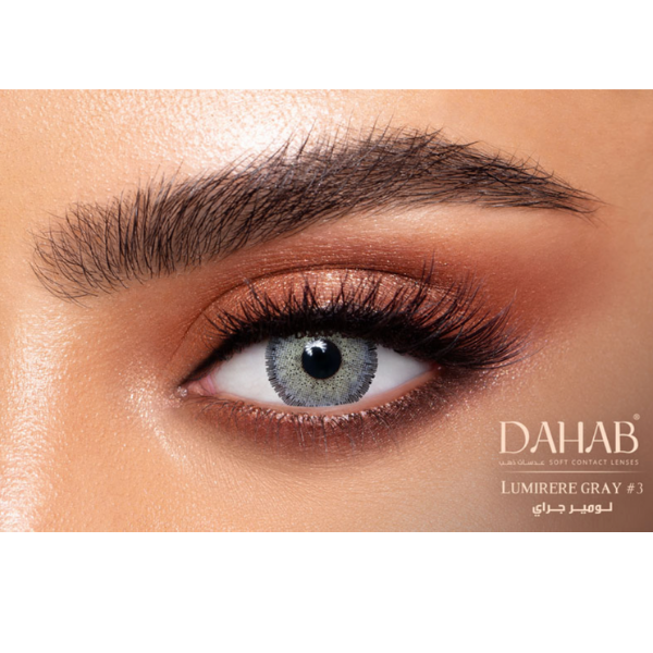 Gray Contact Lenses Dahab Gold Lumiere Gray - 6 Months Use
