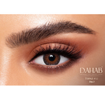Brown Contact Lenses Dahab Gold Topaz - 6 Months Use