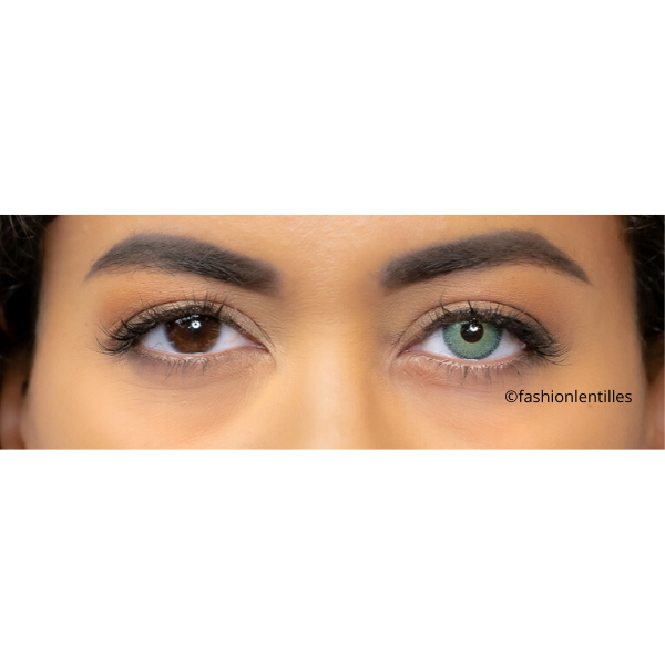 preview of green color lenses with light contour