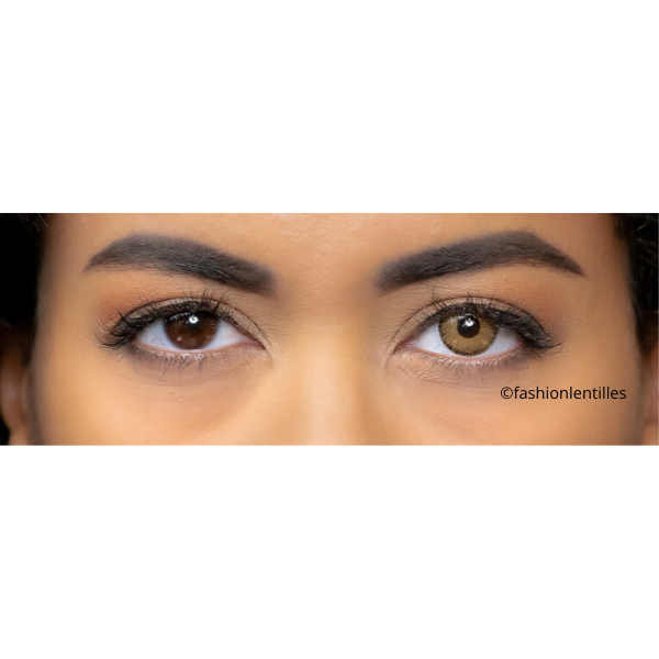 preview of brown color lenses with light contour