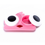 Pink bird contact lenses case holder