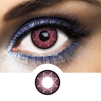 Pink Contact Lenses Los Angeles Pink - 1 Year