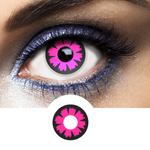 Pink Contacts Cyber - Crazy Lenses of 1 Year Use