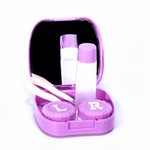 Pink kit contact lenses case holder