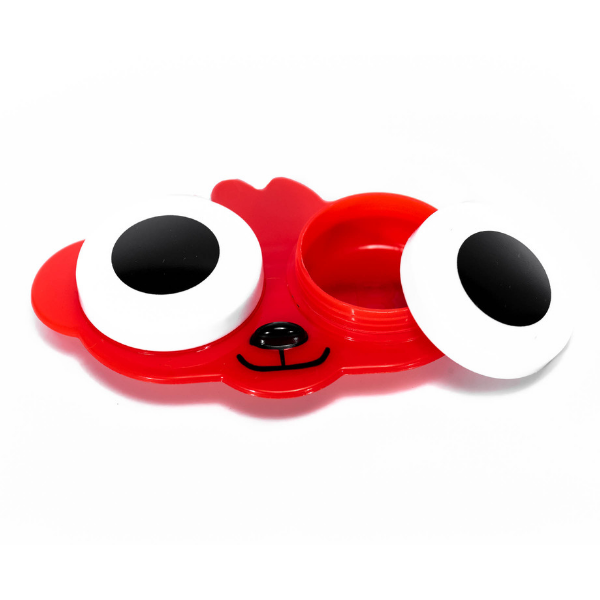 Red dog contact lenses case holder
