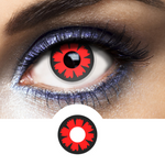 Red Contacts Cyber - Crazy Lenses of 1 Year Use
