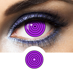 Black and Violet Contacts Spiral Rinnegan - Crazy Lenses of 1 Year Use