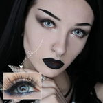 gothic makeup with color lenses ttdeyes real crystal