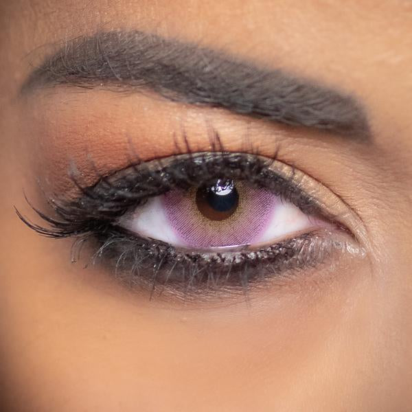 Pink Contact Lenses Obsession Paris Perfection Purple - 3 Months Use
