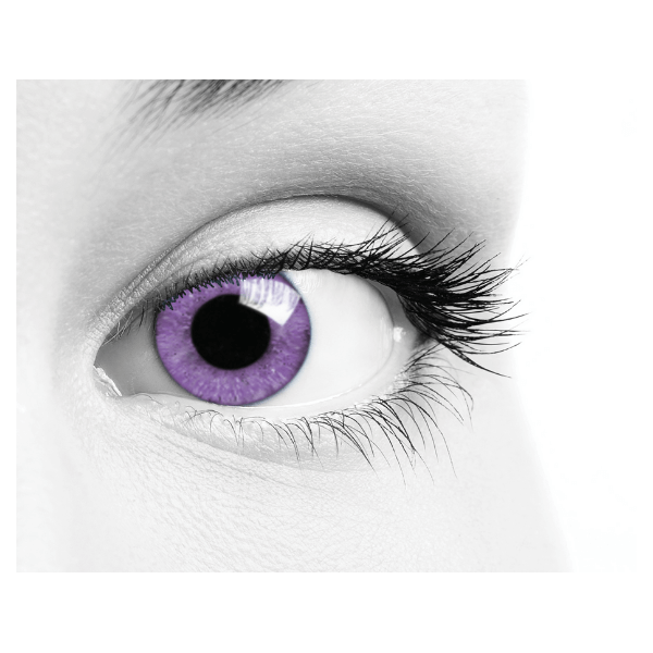 Violet Contact Lenses Soleko Queen's Solitaire Violet - 3 Months Use