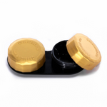 Black and yellow contact lenses case holder