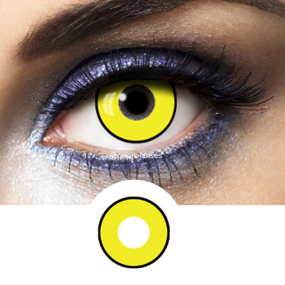 black and yellow contact lenses fantasy