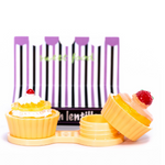 yellow cupcake case holder for color lenses