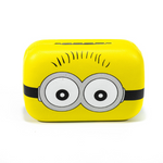 Yellow kit contact lenses case holder The Minions TWO EYES