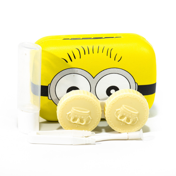 yellow contact lenses case holder The Minions