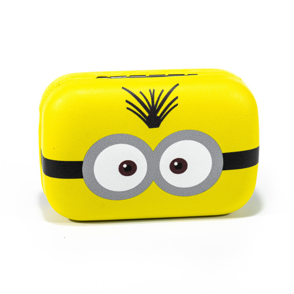 Yellow kit contact lenses case holder The Minions TREE