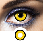 yellow contact lenses make-up