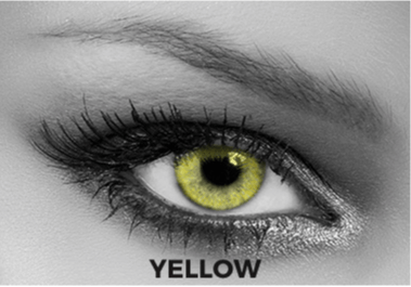 Yellow Multifocal Contact Lenses Soleko Queen's Solitaire Yellow - 3 Months Use