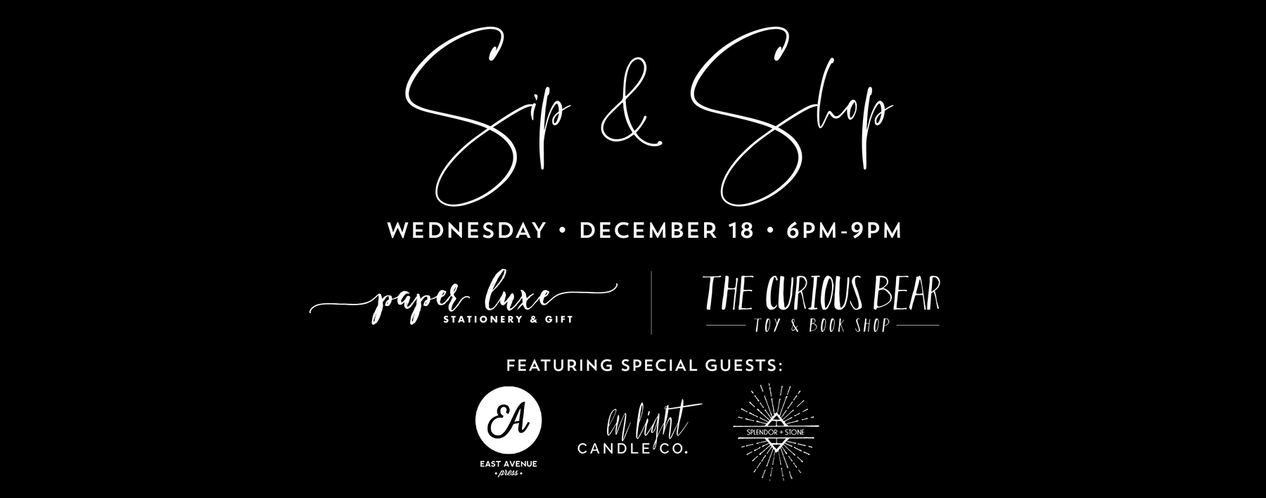 Holiday Sip & Shop Event!