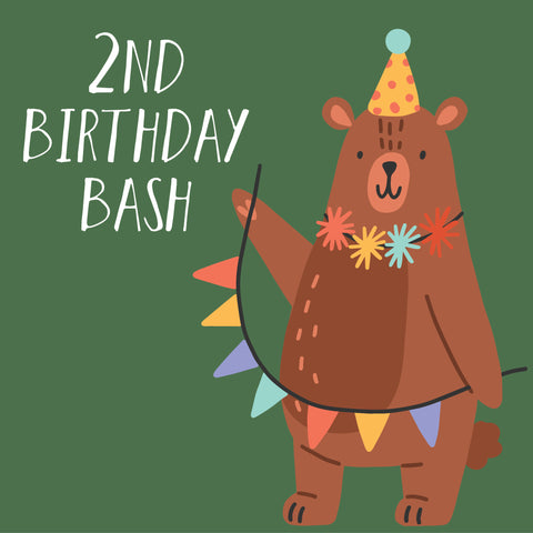 Curious Bear 2nd Birthday Bash Celebration