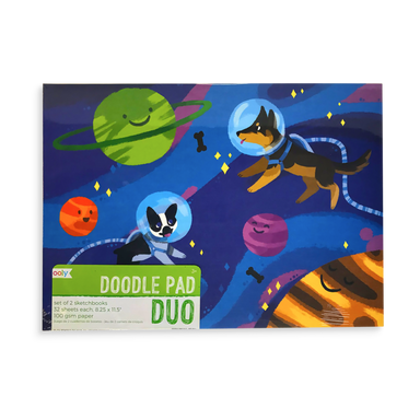 Doodle Pad Duo Sketchbook - Adventurous Pets - Set of 2