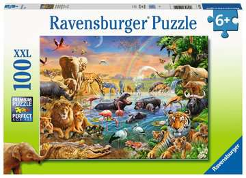 Savannah Jungle Waterhole - 100pcs