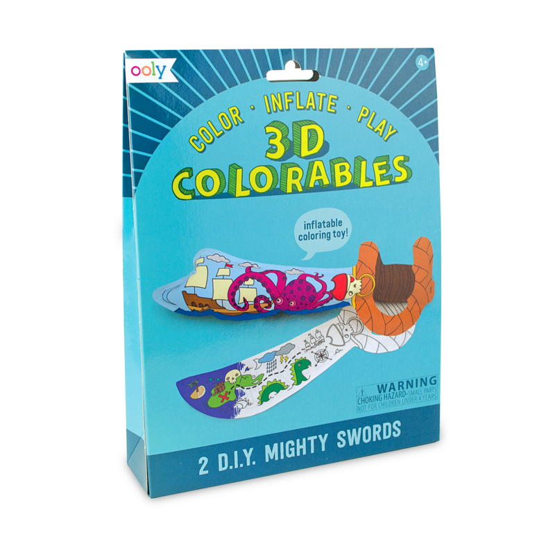 3D Colorables - Mighty Swords
