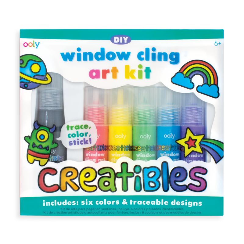 Creatibles DIY Window Cling Art Kit - 8 Piece Set