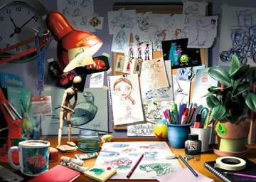 Disney The Artist's Desk - 1000pc