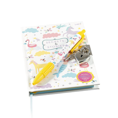 Lockable Notebook with Scented Pen: Fantasy